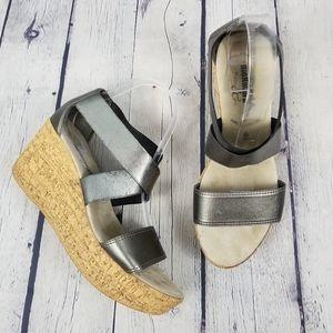 BIONATURA | Salona elastic strap wedge sandals